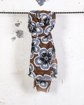 Sciarpa-fiori-ricamati-tabacco-CAMERUCCI