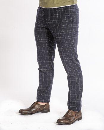 pantaloni-check-uomo-blu-MANUEL-RITZ